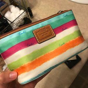 Coach bag/makeup bag
